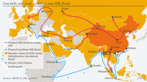 One Belt, One Road (Source: http://www.dw.com/en/chinas-ambitious-silk-road-strategy/a-18933290#)